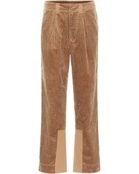 Ganni High-rise Corduroy Pants - Brown