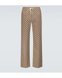 Gucci Pantalones GG de mezcla de algodón - Neutro
