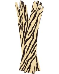 Gucci Handschuhe aus Seiden-Twill - Mehrfarbig