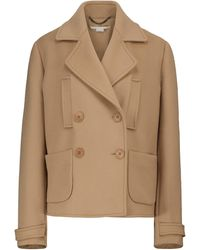 Stella McCartney Chaqueta de lana de doble botonadura - Marrón
