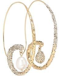 Givenchy Aretes adornados con perlas - Metálico