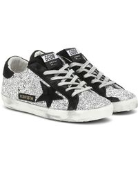 Golden Goose Deluxe Brand Sneakers Superstar con glitter - Nero