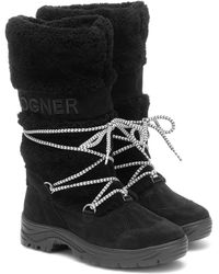 Bogner Alta Badia 2 Shearling Snow Boots - Black
