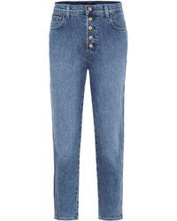 J Brand Heather High-rise Straight Jeans - Blue