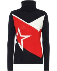 Perfect Moment Super Day Star-intarsia Merino-wool Sweater - Blue