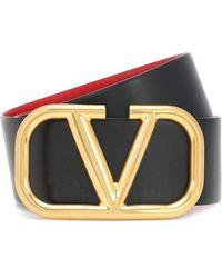 Valentino Cintura reversibile VLOGO in pelle - Multicolore