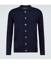 Thom Sweeney - Wool Long-sleeved Buttoned Cardigan - Lyst