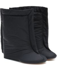 MM6 by Maison Martin Margiela Nylon Ankle Boots - Black