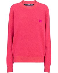 Acne Studios Pullover aus Wolle - Pink