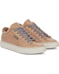 Brunello Cucinelli Sneakers aus Leder - Braun