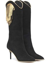 Charlotte Olympia Magnifico Suede Boots - Black