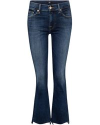 7 For All Mankind Jeans Ankle Boot cropped - Blu
