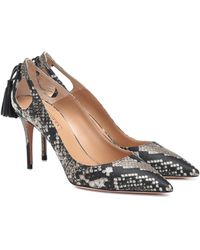 Aquazzura Forever Marilyn 85 Snake-effect Pumps - Multicolour