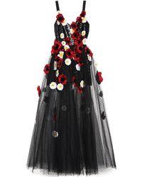 Elie Saab - Floral-embellished Tulle Gown - Lyst