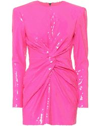 Alex Perry Jade Sequined Minidress - Pink