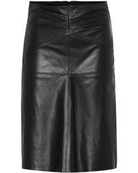 Isabel Marant Jupe Gladys en cuir - Noir
