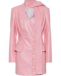Materiel Tbilisi Faux-leather Minidress - Pink