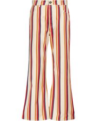 Paco Rabanne Striped Mid-rise Flared Jeans - Multicolour