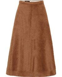 Rochas - Alpaca And Wool Midi Skirt - Lyst