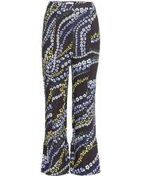 Erdem - Verity Printed Crêpe Trousers - Lyst