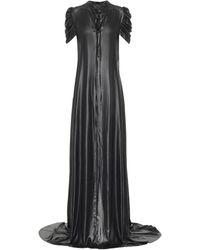 Ann Demeulemeester Charmeuse Satin Gown - Black