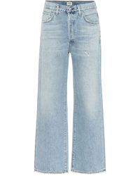 Citizens of Humanity Joanna Mid-rise Wide-leg Jeans - Blue