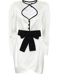 Dundas Robe en satin - Blanc