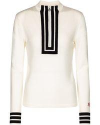 Perfect Moment Pullover Attu in lana merino - Bianco