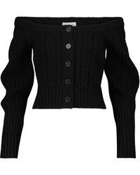 Alexander McQueen Cardigan in lana e cashmere - Nero