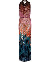 The Attico Vestido de fiesta con lentejuelas - Multicolor