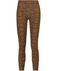Varley Luna Snake-print leggings - Brown