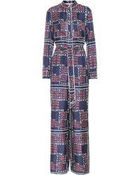 Valentino - Printed Silk Twill Jumpsuit - Lyst