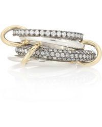 Spinelli Kilcollin - Vega Sg 18kt Gold And Silver Diamond Ring - Lyst