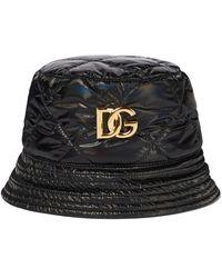 Dolce & Gabbana Quilted Bucket Hat - Black