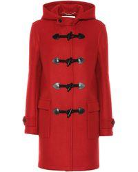 Saint Laurent Wool Duffle Coat - Red