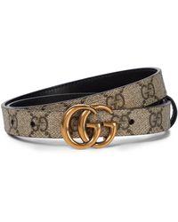 Gucci Wendbarer Gürtel GG Supreme aus Canvas - Natur