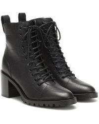 Jimmy Choo Cruz 65 Leather Ankle Boots - Black