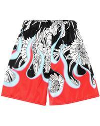 Prada - Printed Shorts - Lyst