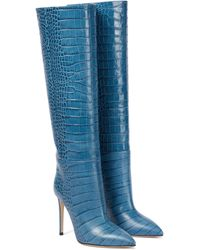 Paris Texas Stiefel aus Leder - Blau