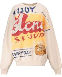 Acne Studios Logo Oversized Cotton Sweatshirt - Multicolour