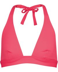 Eres Top de bikini Foulard de cuello halter - Rosa