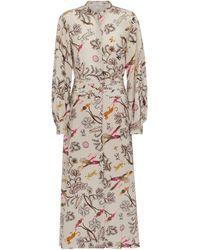 Dorothee Schumacher Robe chemise Tree Of Life imprimée en soie - Neutre