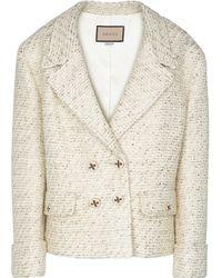 Gucci - Veste en tweed de laine mélangée - Lyst