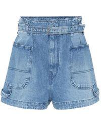 Isabel Marant Shorts di jeans Kike a vita alta - Blu