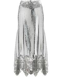 Paco Rabanne Sequined High-rise Midi Skirt - Metallic