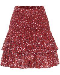 Étoile Isabel Marant Naomi Cotton Voile Miniskirt - Red