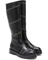 Alaïa Studded Leather Knee-high Boots - Black
