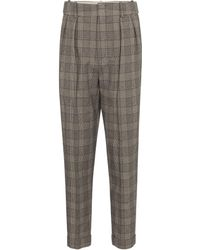 Isabel Marant - Pantalones Oceyo tapered a cuadros - Lyst