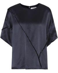 Vince - Raw-edge Silk T-shirt - Lyst