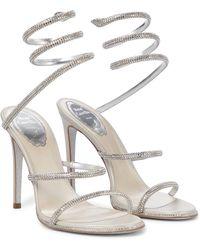 Rene Caovilla Cleo Embellished Sandals - White